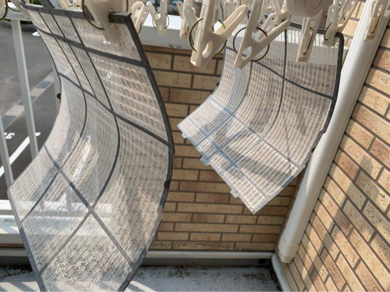 エアコンフィルター乾燥中